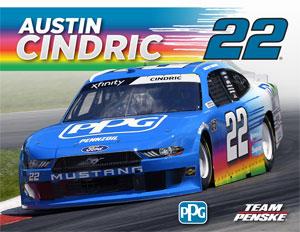Team Penske Austin Cindric Driver Card