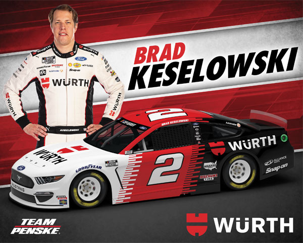 Team Penske Wurth Hero Card