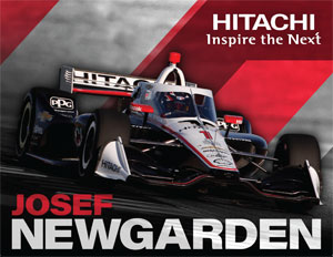 Team Penske Newgarden Driver Card Hitachi