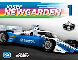Team Penske Newgarden Driver Card PPG