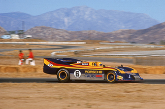 Mark Donohue racing the powerful Porsche 917/30 in 1973