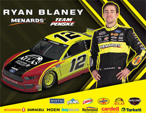Ryan Blaney Atlas Driver Card