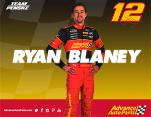 Team Penske Ryan Blaney Advanced Autoparts Hero Card