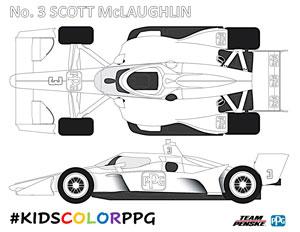 Penske No 3 McLaughlin Coloring Page