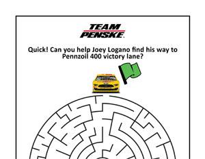 NASCAR Logano Maze