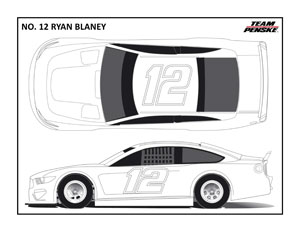 Penske No 12 Coloring Pages