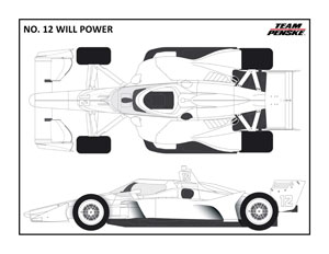 Penske No 12 Power Coloring Page