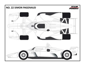 Penske No 22 Pagenaud Coloring Page