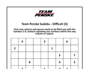 Team Penske Sudoku Advanced
