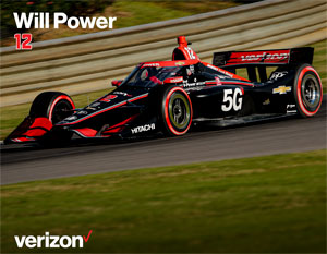 Team Penske Will Power Autograph Card