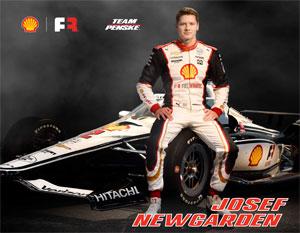 Team Penske Newgarden Driver Card