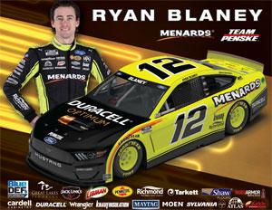 Team Penske Ryan Blaney Driver Card