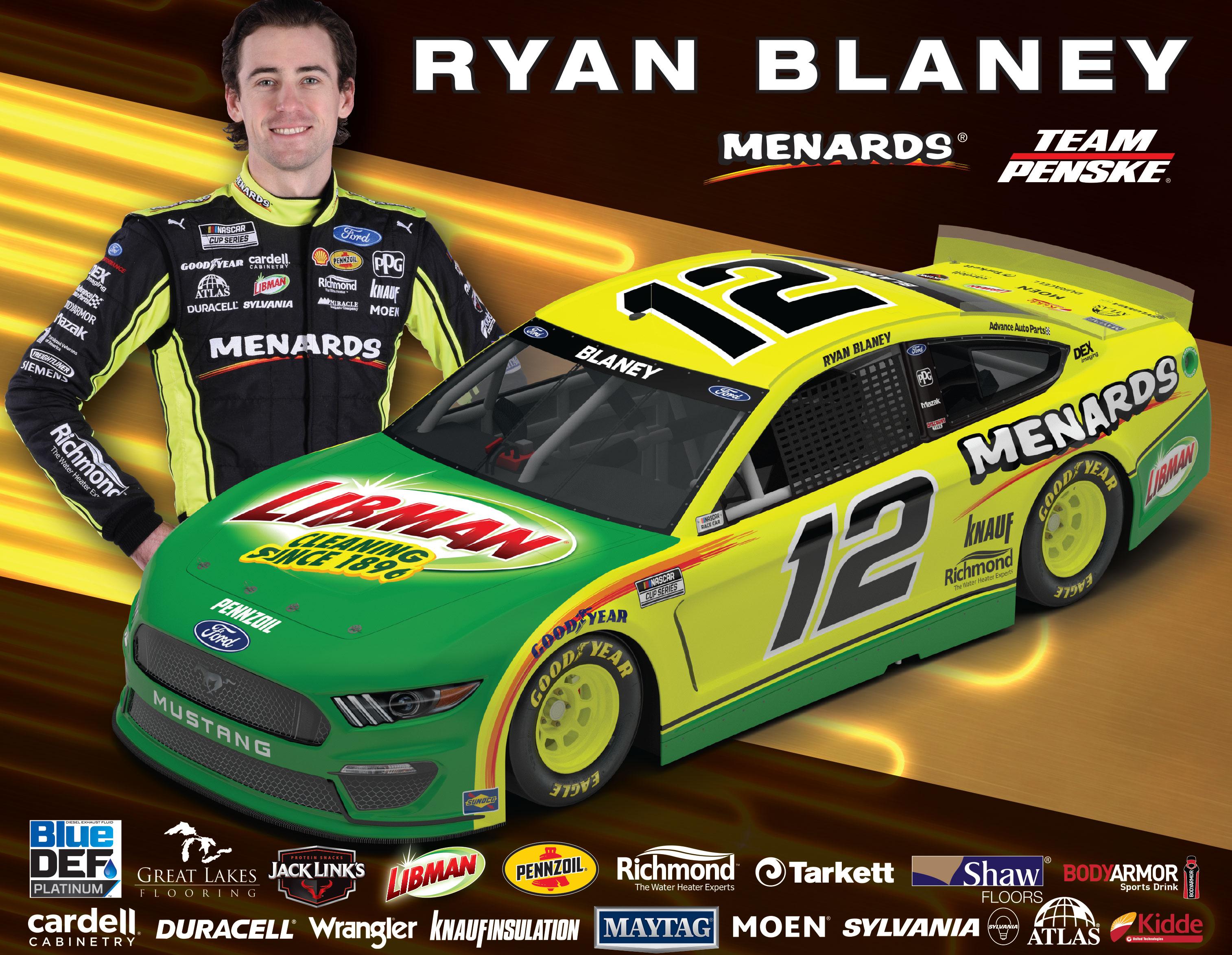 Team Penske Ryan Blaney Hero Card