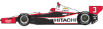 No 3. Hitachi Team Penske Dallara / Chevy