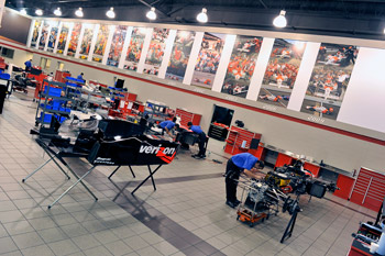 IndyCar garage area