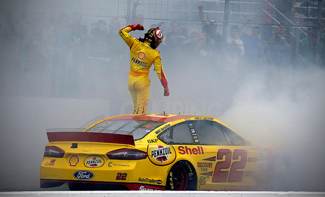 Logano Wins Second Race Of The 2014 Chase At Loudon