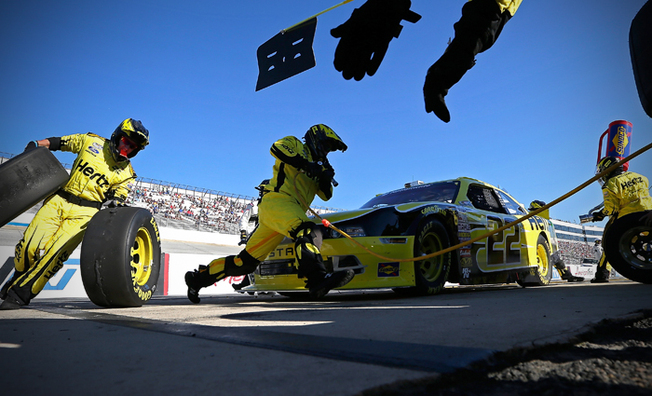 Logano Races #22 Hertz Mustang To Second-Place Finish