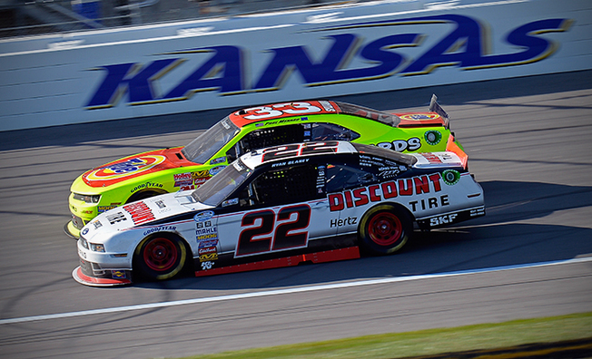Blaney Holds on to Finish Third In Kansas Lottery 300