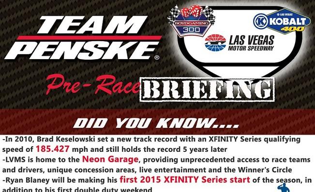Team Penske Infographic - Las Vegas