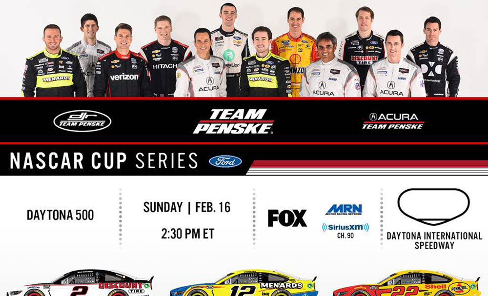 Team Penske Infographic - Daytona - Cup and NXS