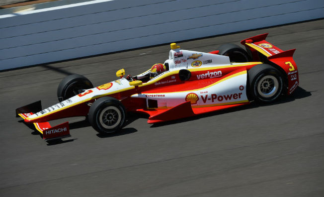 Castroneves Leads Team Penske Thursday at Indianapolis