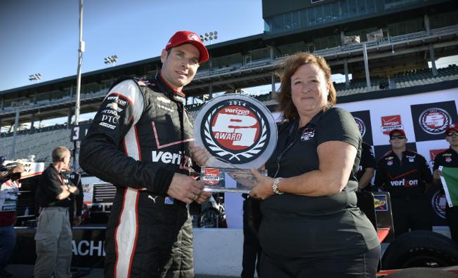 Will Power Wins Fourth Verizon P1 Pole Award of 2014