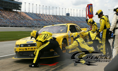 Hornish Races to Second-Place Finish at Chicagoland