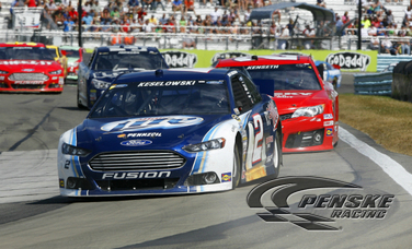 Keselowski Battles His Way to a Second-Place Finish