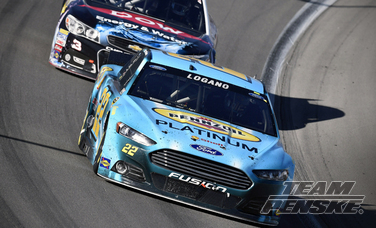 Logano Fights His Way to Top-10 Finish in Kobalt 400