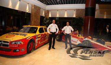 Honda Dealership Las Vegas >> Team Penske | News | Shell and Pennzoil Unveil Cars ...