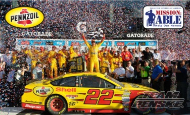 Logano Win Would Mean Pennzoil Paralyzed Vet Donation