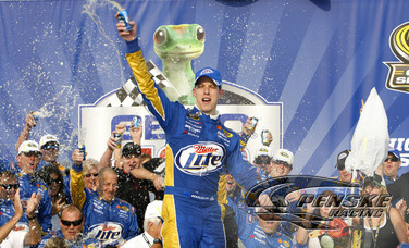 Keselowski Strikes First, Wins Chase Opener in Chicago