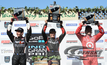 Briscoe Claims Victory to Lead Team Penske 1-2 Finish