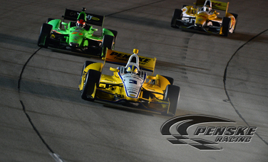 Castroneves Leads Team Penske at Iowa Speedway