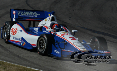 Castroneves Leads Second Practice at Barber