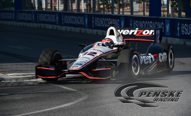 Power Fastest Penske Entry in Baltiomre Practice