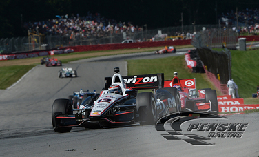 Power and Castroneves Score Top-10 Finishes at Mid-Ohio
