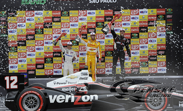 Power Wins Third Consecutive Race in Sao Paulo