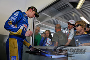 Keselowski signs for fans in attendance at Preseason Thunder