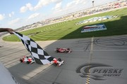 Helio Castroneves and Ryan Briscoe finish first and third at Chicagoland